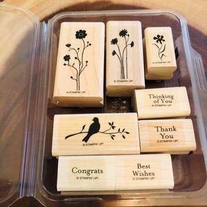 🆕Stampin Up Silhouette Sentiments Stamp Set